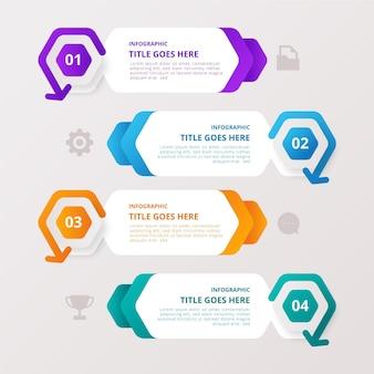 Raccolta di dati colorati infografica con dettagli