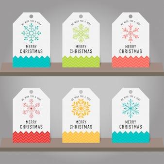 Raccolta di decorazioni di regalo di natale e di capodanno (decorazione appesa).