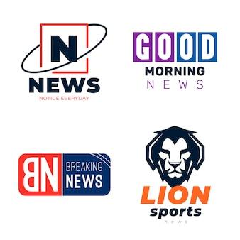 Raccolta di diversi loghi di notizie