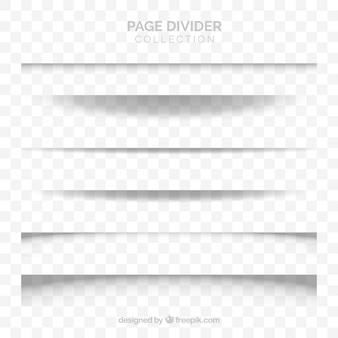 Raccolta di divisori di pagina senza sfondo