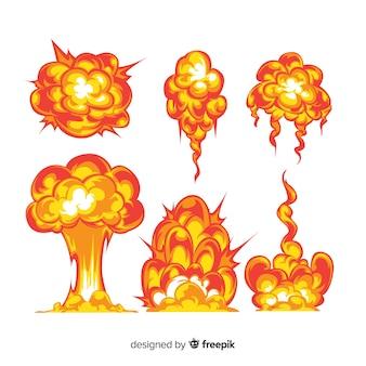 Raccolta di effetti di esplosione dei cartoni animati