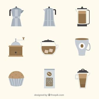 Raccolta di elementi di caffè