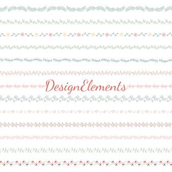 Raccolta di elementi di design divisorio
