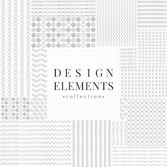 Raccolta di elementi di design linea di divisori linea