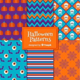 Raccolta di elementi di halloween modello in design piatto