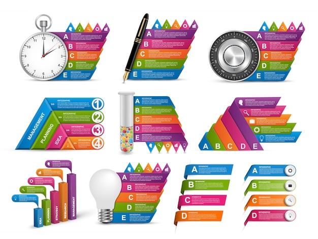 Raccolta di elementi di infografica. elementi di disegno vettoriale.
