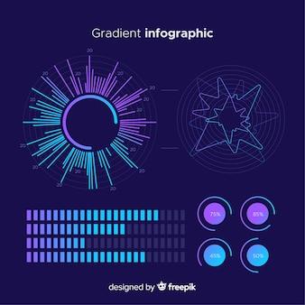 Raccolta di elementi di infographics sfumatura
