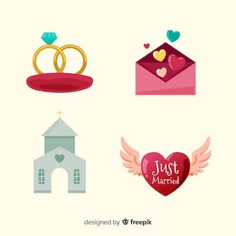Raccolta di elementi di nozze
