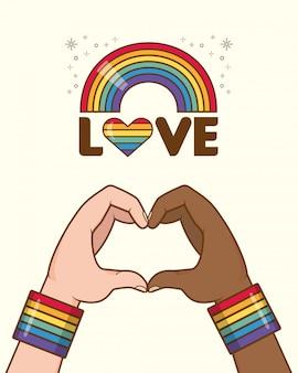 Raccolta di elementi di orgoglio lgbt