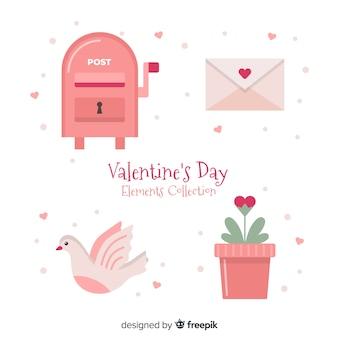 Raccolta di elementi di san valentino