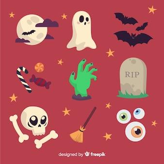 Raccolta di elementi divertenti di halloween
