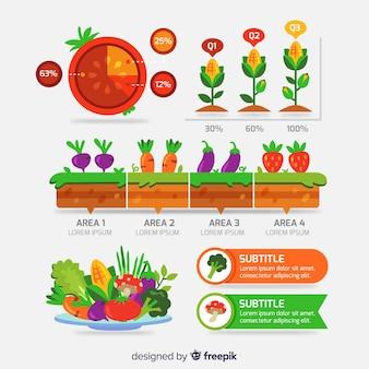 Raccolta di elementi floreali infografica