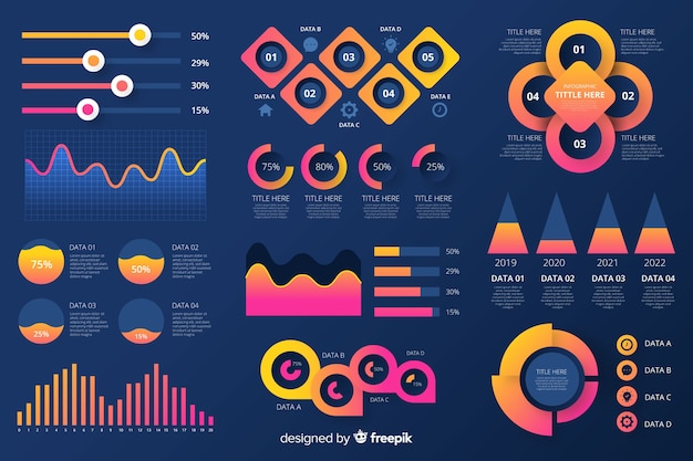 Raccolta di elementi infografici