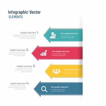Raccolta di elementi infographic colorati in design piatto