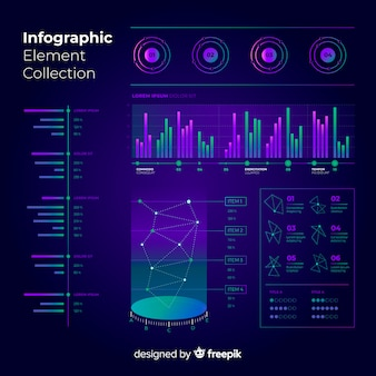 Raccolta di elementi infographic moderna