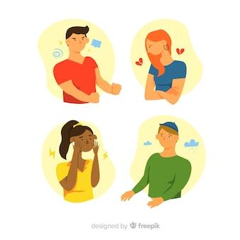 Raccolta di emozioni dei giovani