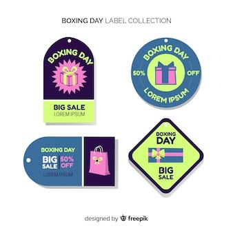 Raccolta di etichette di vendita giorno di santo stefano
