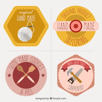 Raccolta di etichette per l'artigianato