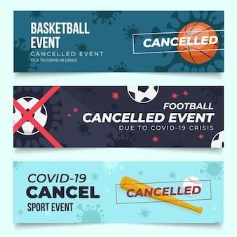 Raccolta di eventi sportivi cancellati - banner