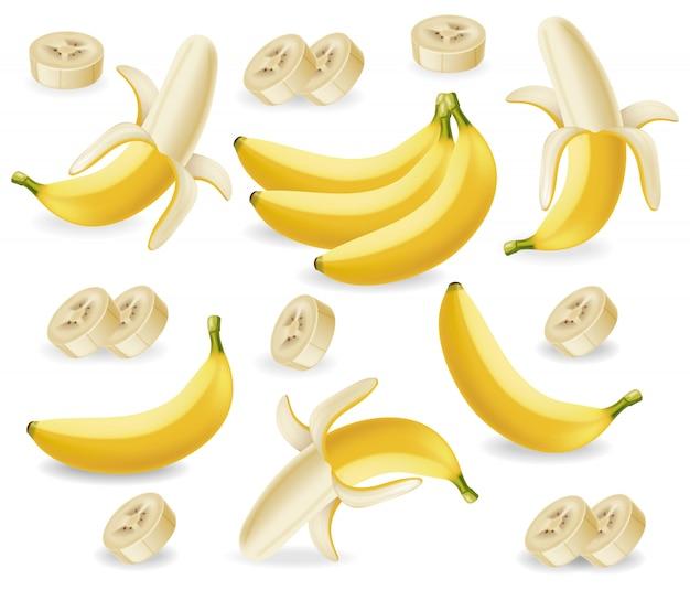 Raccolta di frutti di banana