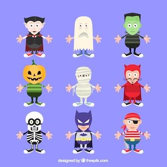 Raccolta di halloween del partito del costume