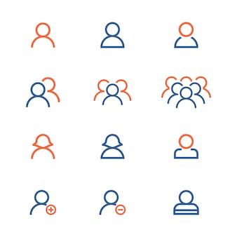 Raccolta di icone della gente