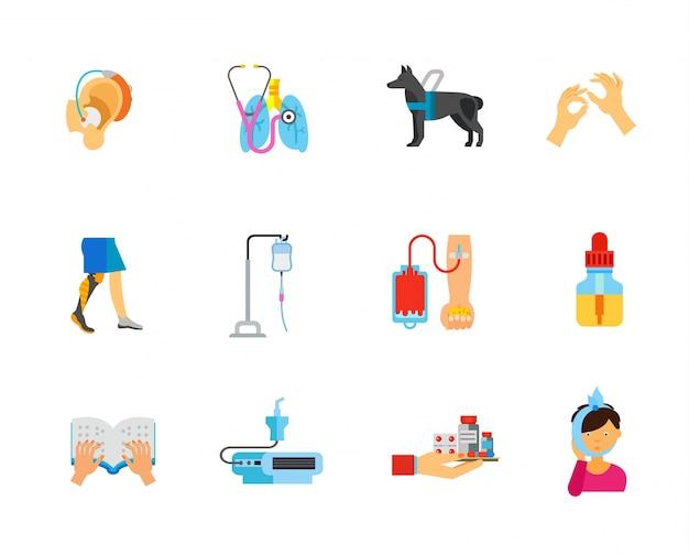 Raccolta di icone di assistenza sanitaria