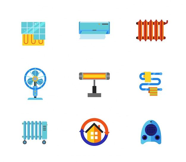Raccolta di icone di condizionamento