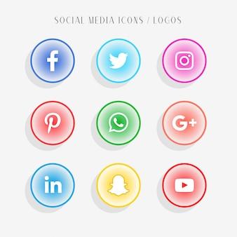 Raccolta di icone di social media