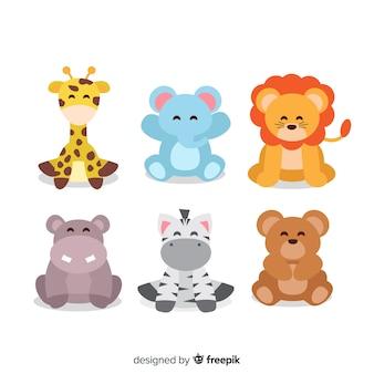 Raccolta di illustrazioni di simpatici animali
