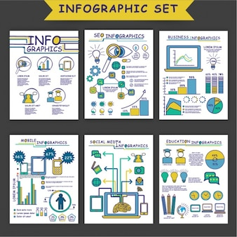 Raccolta di infografica disegnati a mano