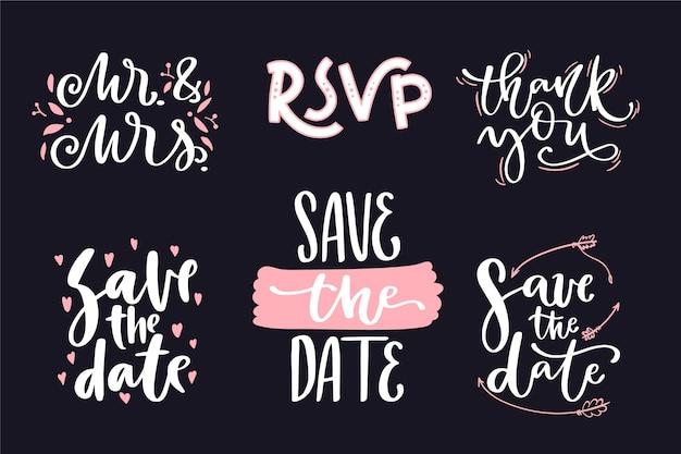Raccolta di lettere di nozze salva la data