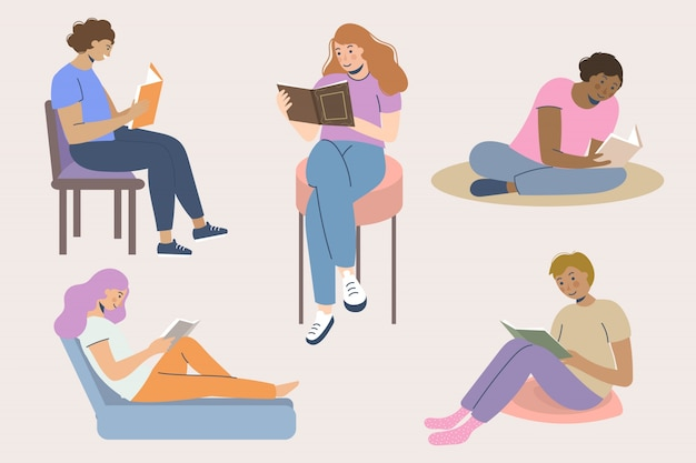 Raccolta di libri di lettura per giovani