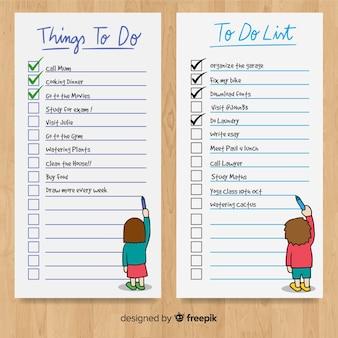 Raccolta di liste da fare