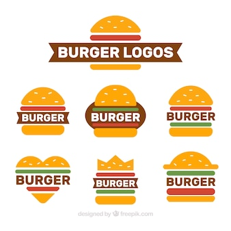 Raccolta di loghi di hamburger