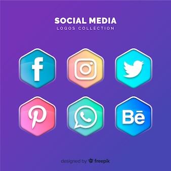 Raccolta di loghi di media sociali