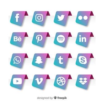 Raccolta di logotipi di media sociali