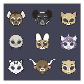 Raccolta di maschere animali