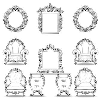 Raccolta di mobili ornamentali