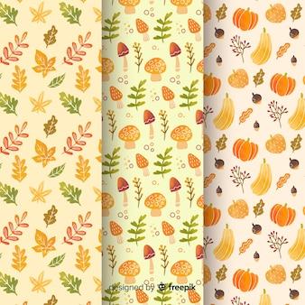 Raccolta di modelli autunno acquerello