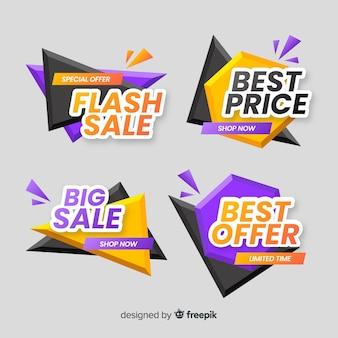 Raccolta di modelli di banner di vendita astratta