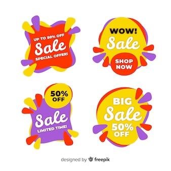 Raccolta di modelli di banner vendita astratta