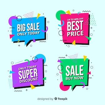 Raccolta di modelli di banner vendita memphis