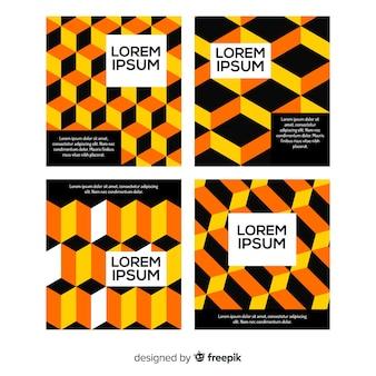 Raccolta di modelli di brochure modello isometrico