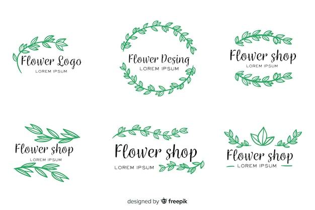 Raccolta di modelli di loghi matrimonio fiorista