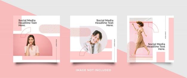 Raccolta di modelli di post social media minimalista