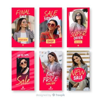 Raccolta di modelli di vendita di storie di instagram