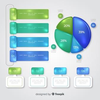 Raccolta di modello di elementi infografica
