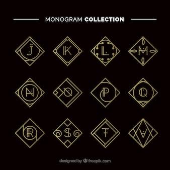 Raccolta di monogramma d'oro