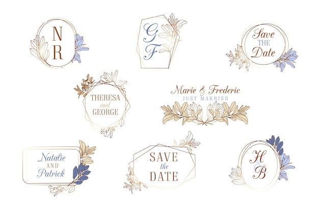 Raccolta di monogrammi di nozze
